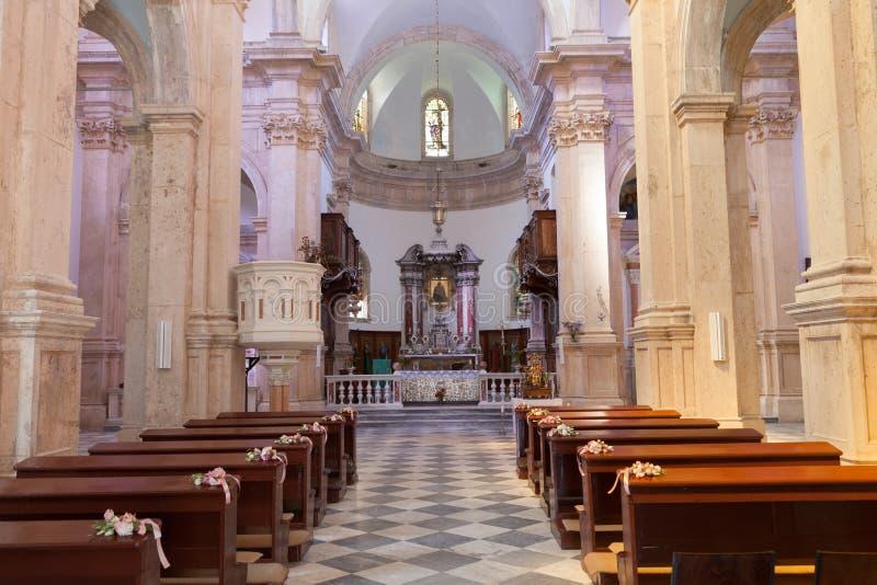 PRCANJ, MONTENEGRO - JULI 23, 2015: Katholiek stock fotografie