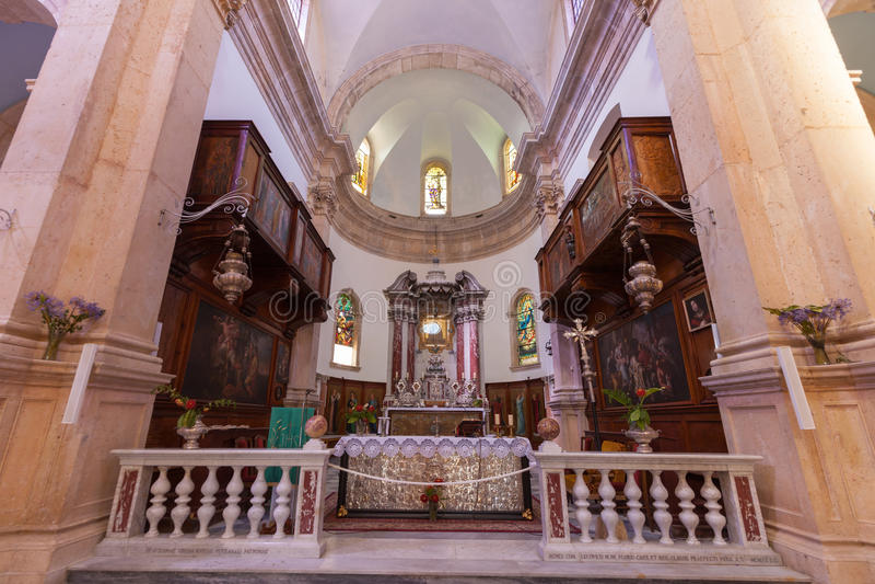 PRCANJ, MONTENEGRO - JULI 23, 2015: Katholiek royalty-vrije stock foto