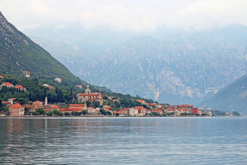 Prcanj village Bay of Kotor Montenegro royalty free stock photography