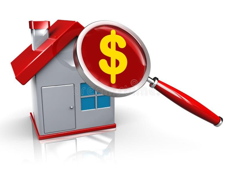Preço da habitação ilustração royalty free