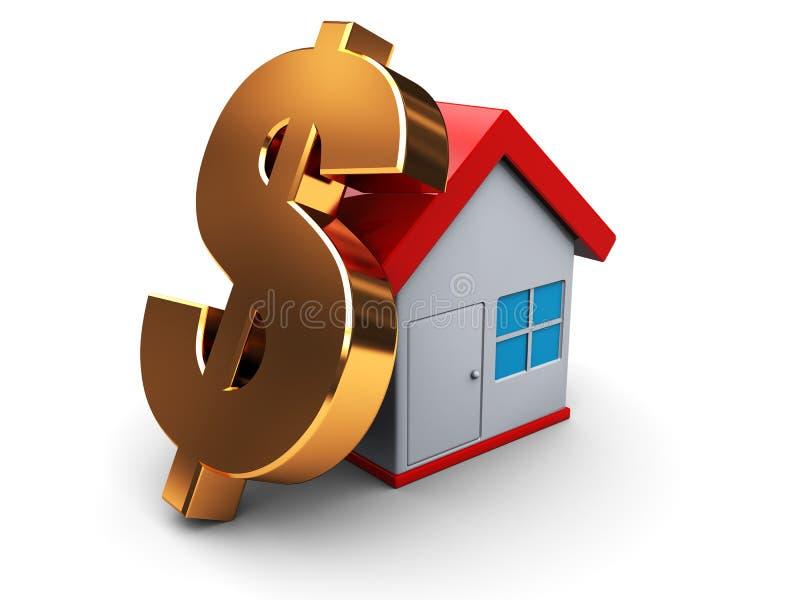 Preço da habitação ilustração stock