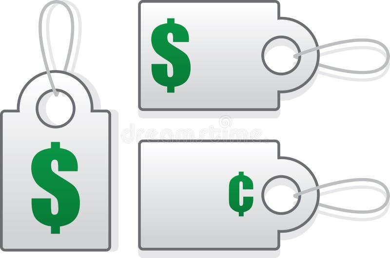 Preço das etiquetas ilustração stock