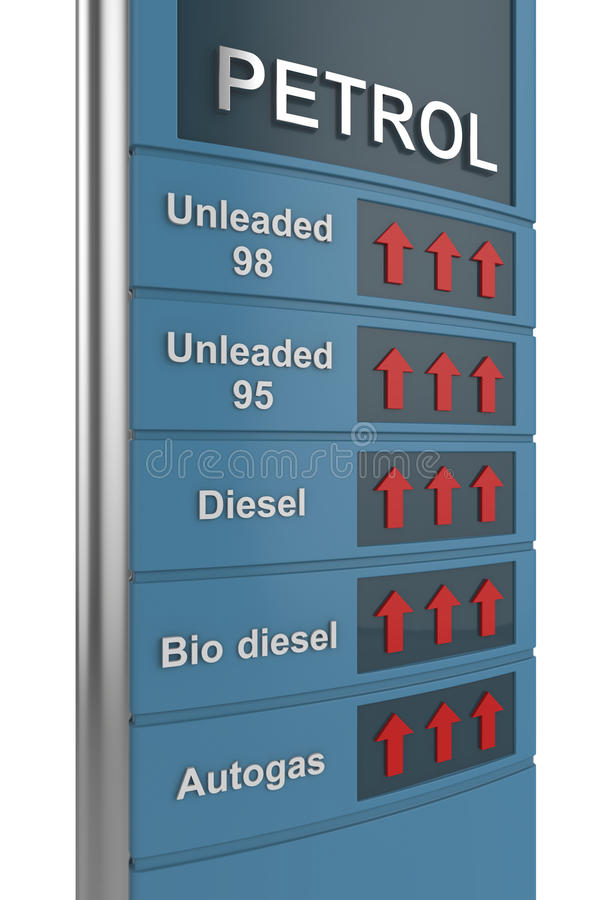 Preço de combustível ilustração do vetor