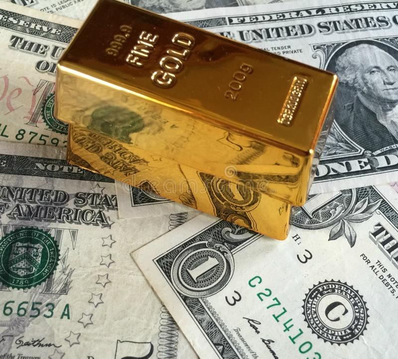Preço do ouro imagens de stock