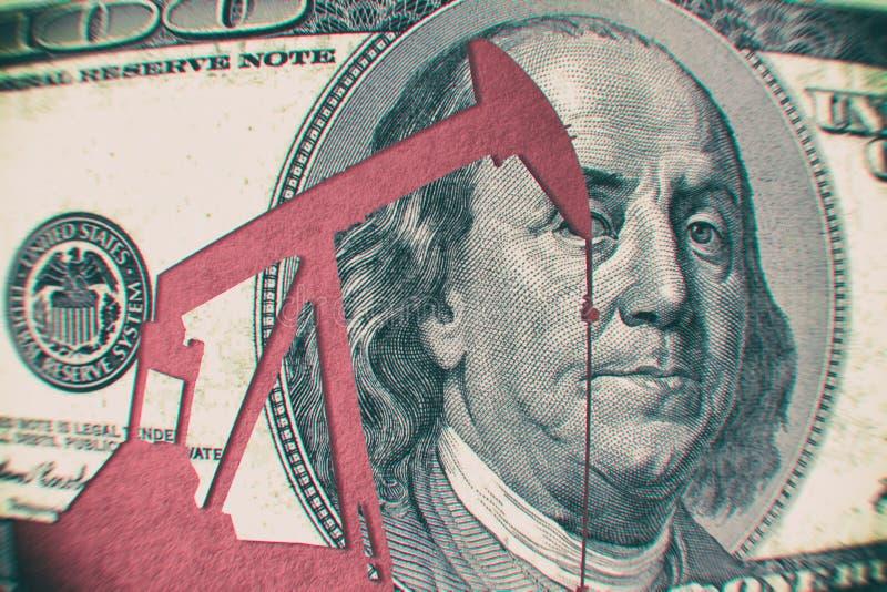 Preço do petróleo crescentes fotografia de stock royalty free