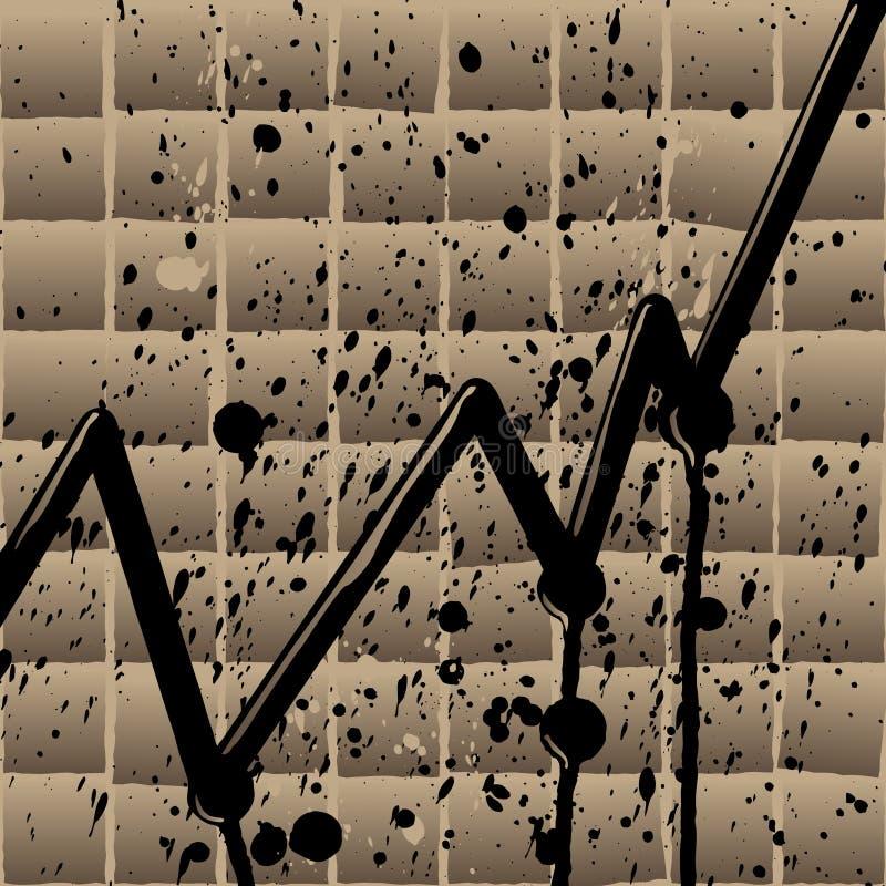 Preço do petróleo de aumentação ilustração do vetor