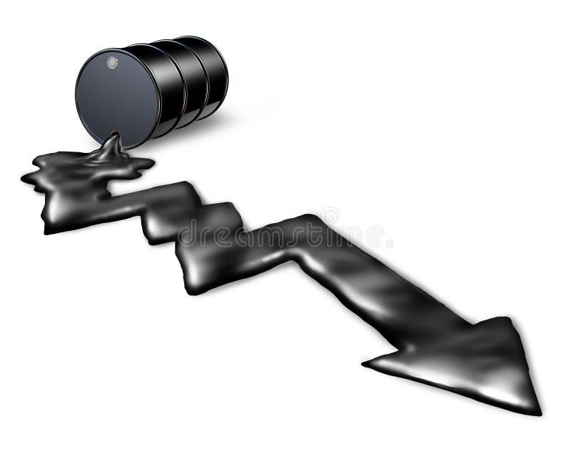 Preço do petróleo de queda ilustração royalty free