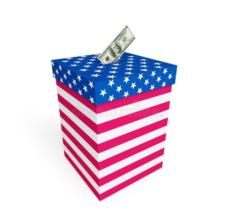Preço do voto nas eleições nos E.U. ilustração royalty free