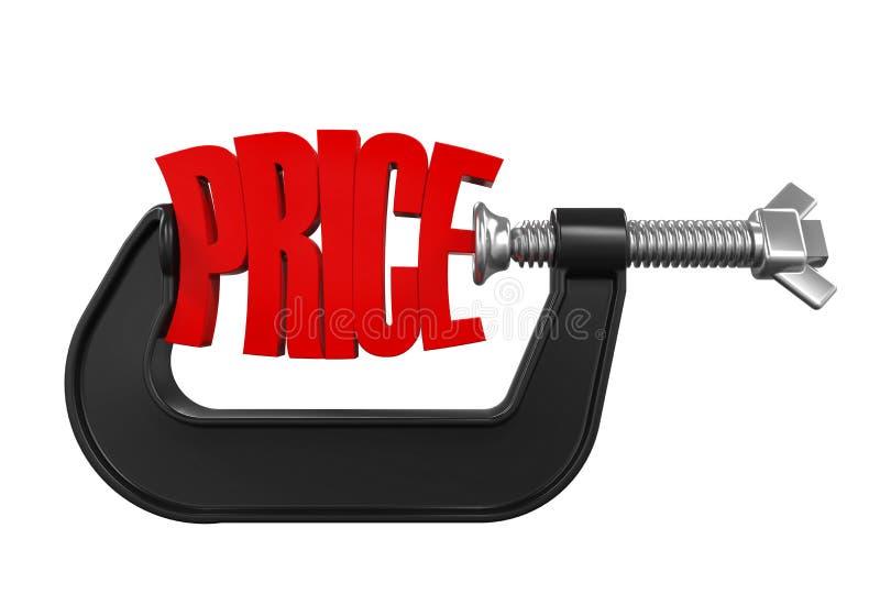 Preço na braçadeira ilustração do vetor