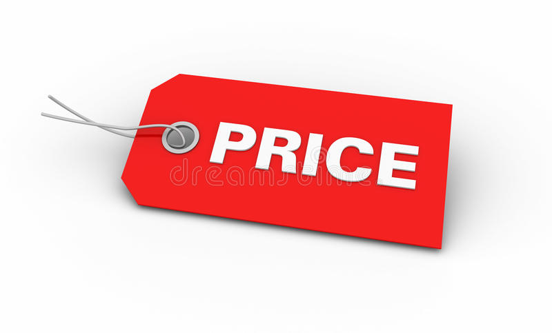 Preço vermelho ilustração royalty free