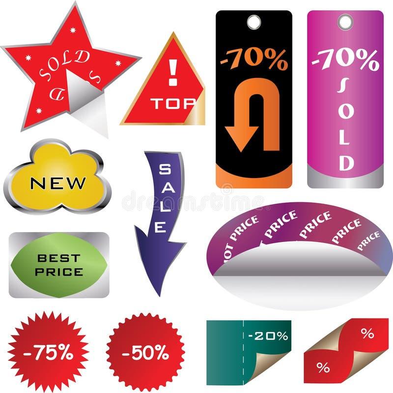 Preços coloridos ilustração royalty free