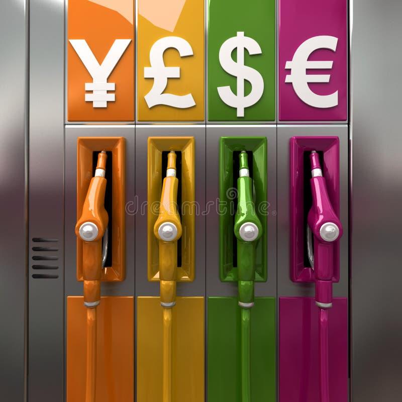 Preços de gás ilustração royalty free