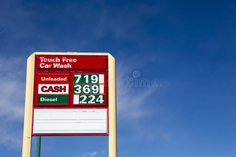 Preços de gás mais altos imagem de stock royalty free