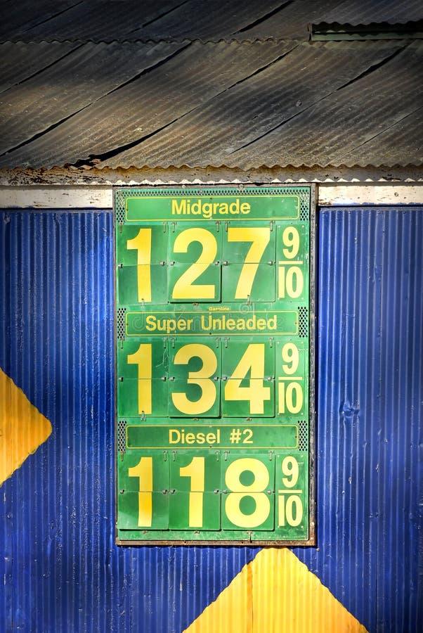Preços de gás: Os bons dias velhos imagens de stock royalty free