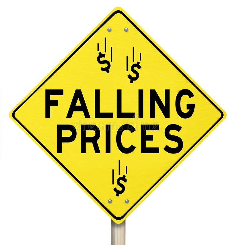 Preços de queda reduzidos reduzindo o disconto da venda especial dos custos ilustração stock