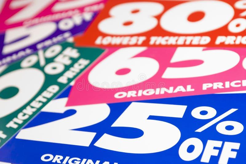 Preços de vendas imagens de stock