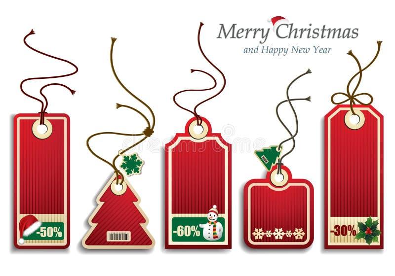 Preços do Natal ilustração royalty free