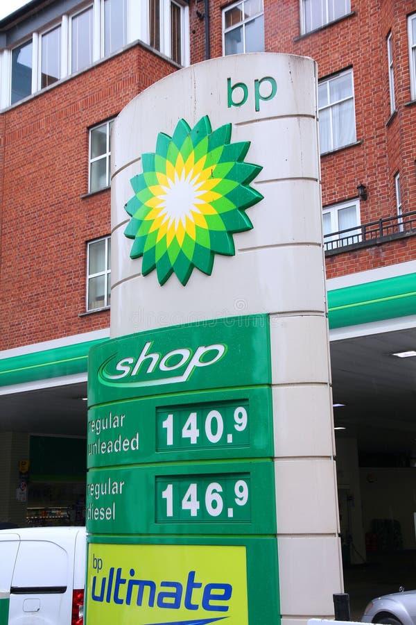 Preços do posto de gasolina de BP imagem de stock royalty free