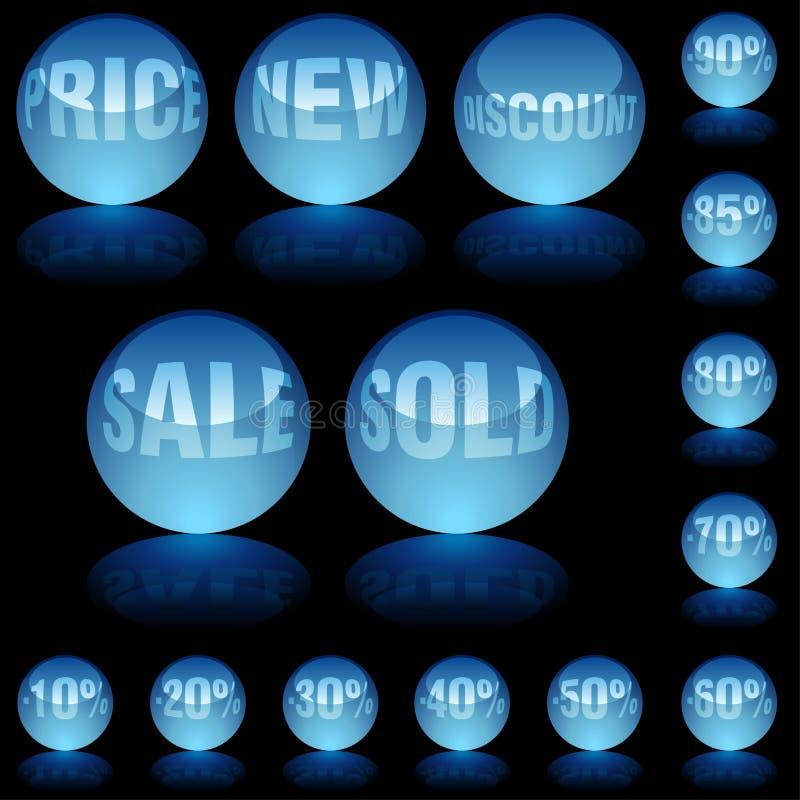 Preços do vidro do Aqua ilustração royalty free