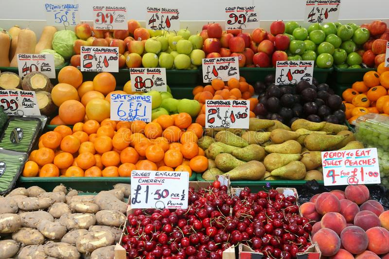 Preços dos alimentos BRITÂNICOS imagem de stock