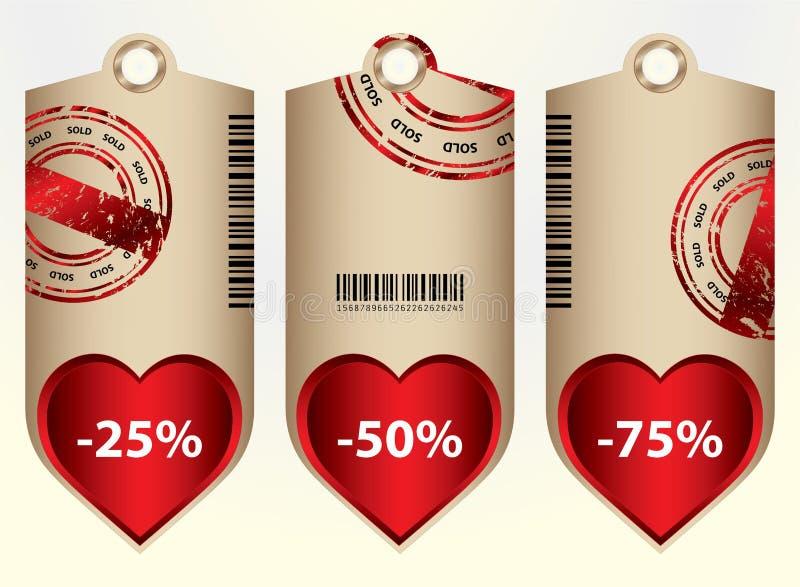 Preços especiais ilustração do vetor