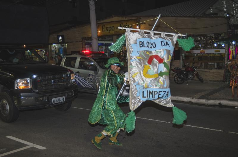 Pre-carnaval em Joao Pessoa, Brasil foto de stock royalty free