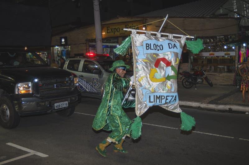 Pre-carnaval en Joao Pessoa, el Brasil foto de archivo libre de regalías