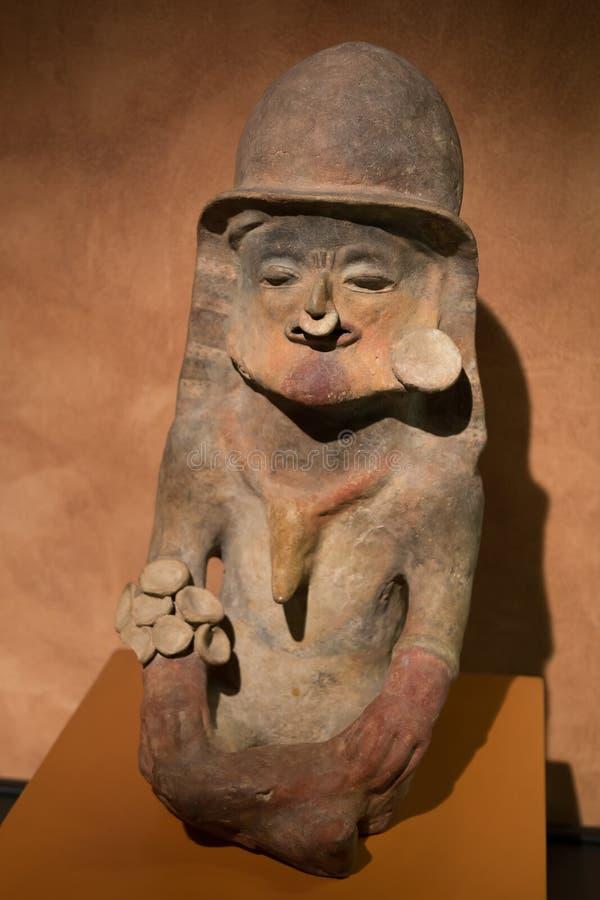 Pre-Columbian aardewerk stock foto