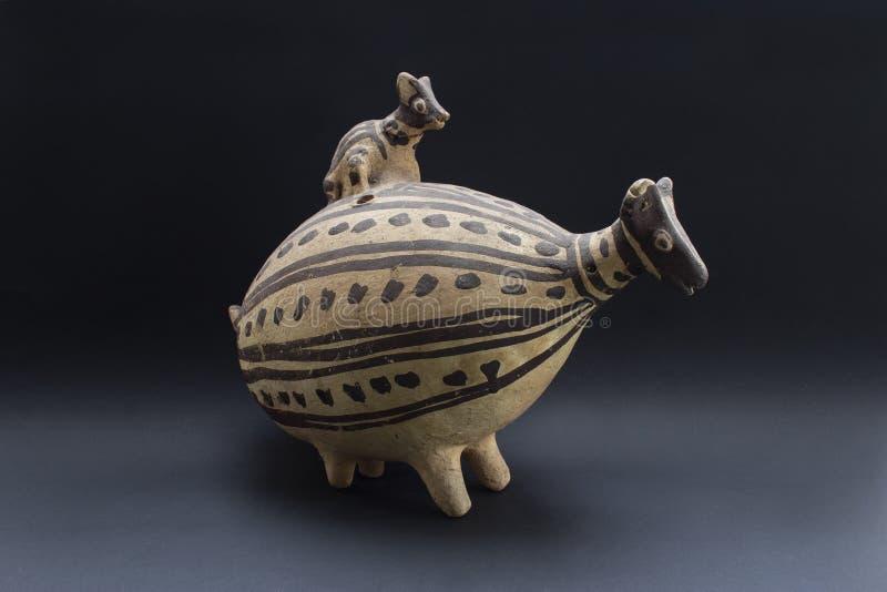Pre-columbian ceramische geroepen ?Huaco ?van Chancay royalty-vrije stock foto