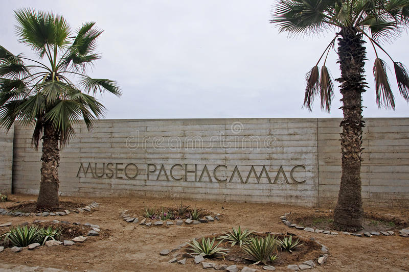Pre-Columbian cultures archaeological site of Pachacamac near Li royalty free stock photography