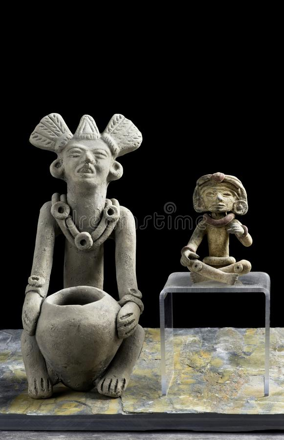 Pre Columbian Figurines royalty free stock images