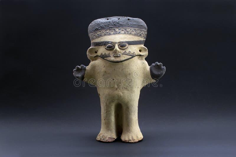 Pre-columbian keramiska kallade ?Huaco ?fr?n Chancay royaltyfria foton