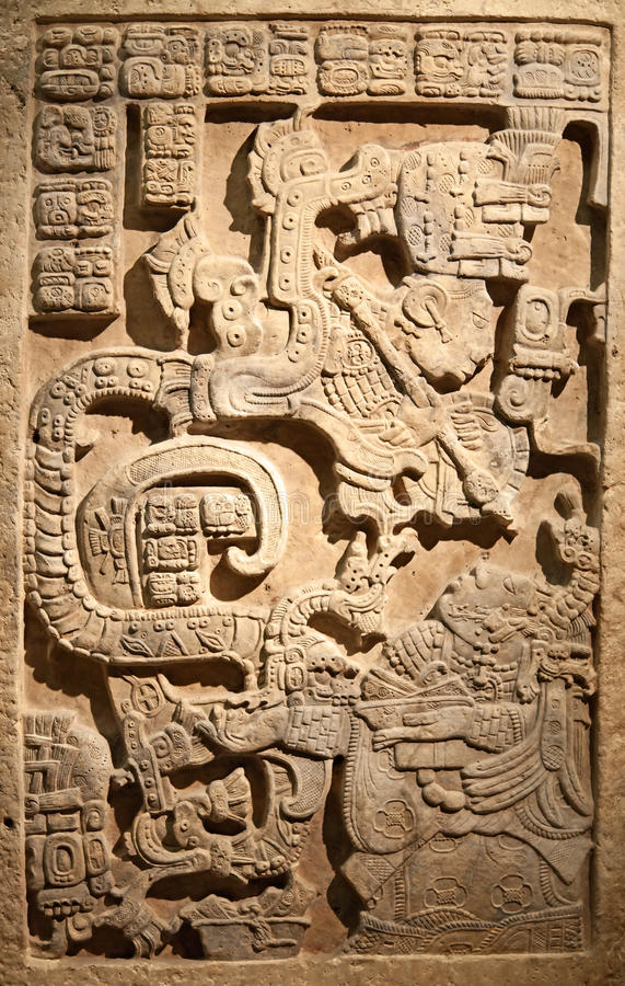 Pre-columbian mexican art stock image