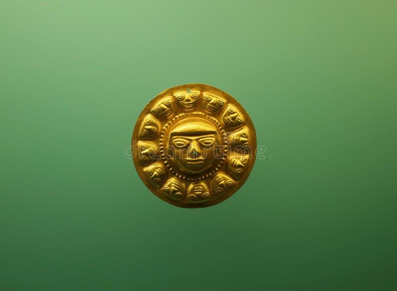 Pre Columbian złocista twarz obrazy royalty free