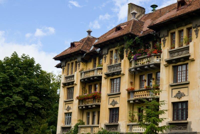 Pre-communism building in Brasov royalty free stock photo
