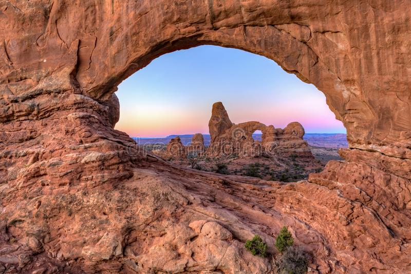 Pre-dawn Arches Eye royalty free stock image