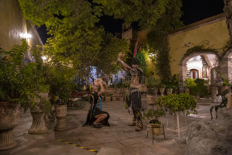 Pre-Hispanic dance Mexico. Tradition, culture, dancer, religion, decoration, traditional, spiritual, mexican, day, dead, travel, sculpture, energy, tourism stock photos
