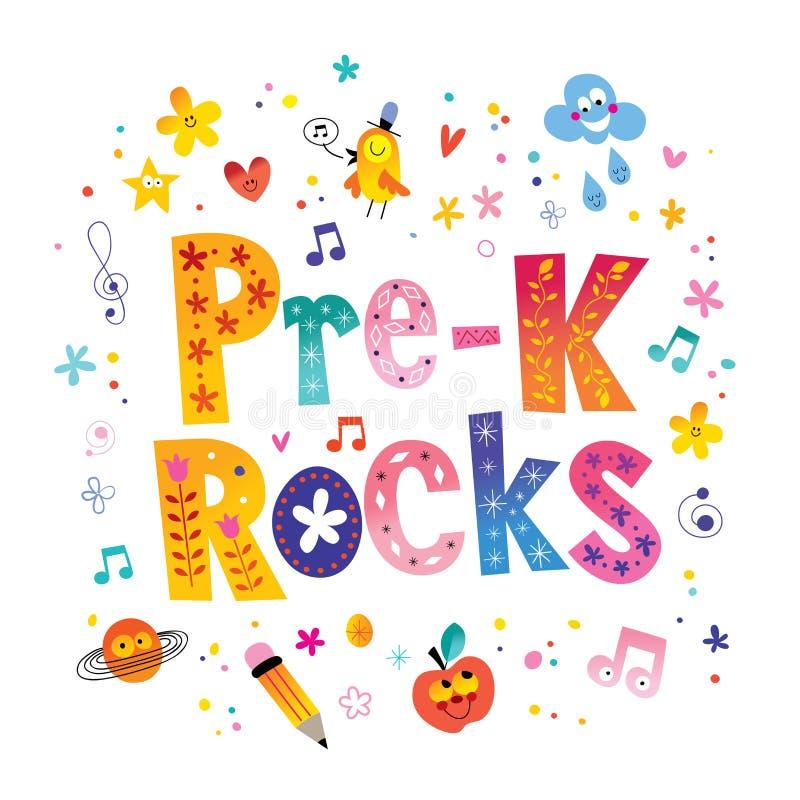 Free Pre K Rocks Lettering Design Royalty Free Stock Image - 107154826