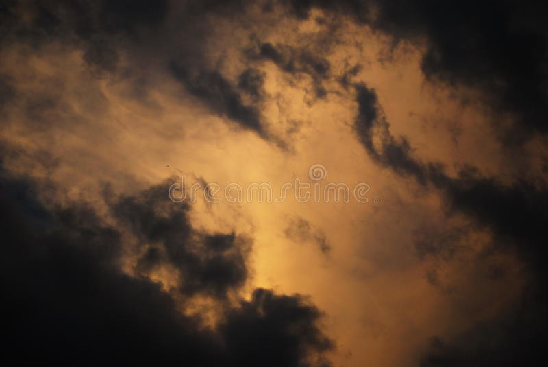 Pre- mood sky stock image