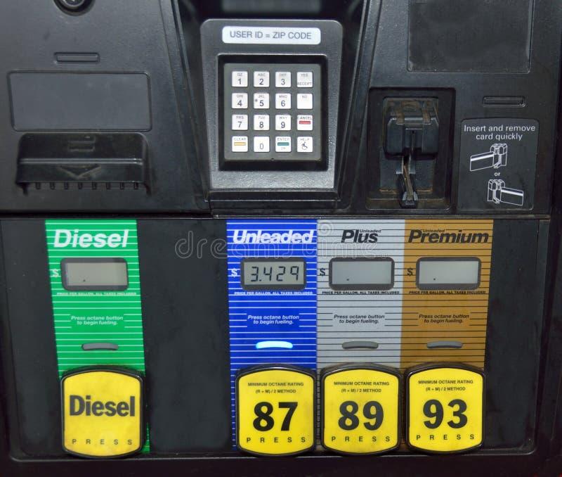 Pre-pay fuel pump royalty free stock photos