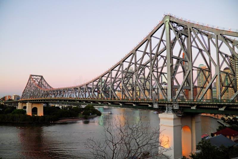 Pre puente Brisbane Australia de la historia del amanecer imágenes de archivo libres de regalías