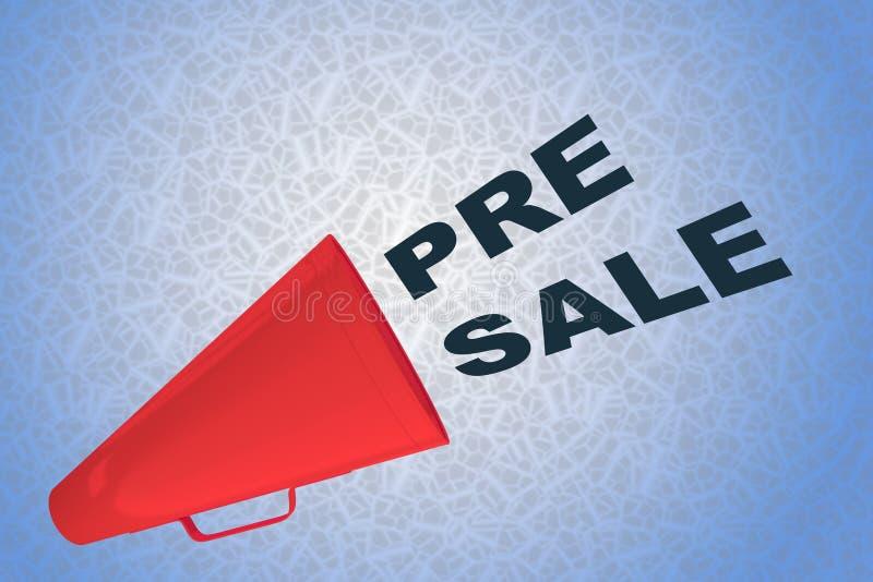 Pre-Sale concept royalty-vrije illustratie