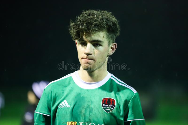 Pre-season friendly between SSE Airtricity League team Cork City FC and Munster Senior League team St. Marys AFC. January 16th, 2019, Cork, Ireland - Pre-season royalty free stock photo
