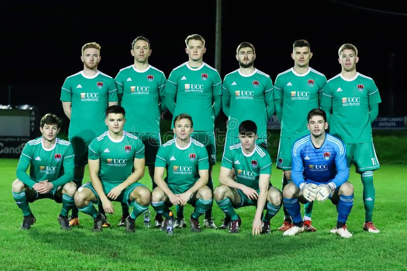Pre-season friendly between SSE Airtricity League team Cork City FC and Munster Senior League team St. Marys AFC. January 16th, 2019, Cork, Ireland - Pre-season royalty free stock images