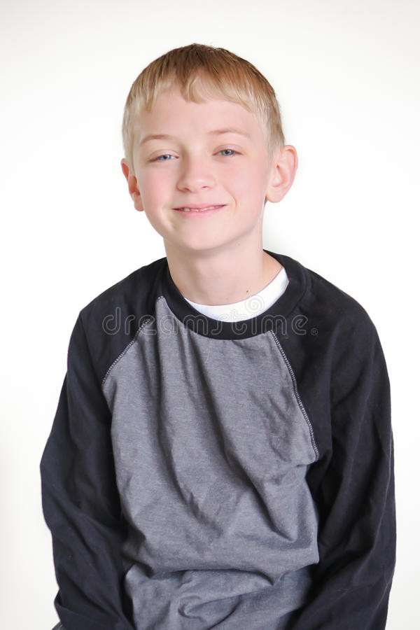 Download Pre teen boy stock image. Image of puberty, blond, child - 31213285