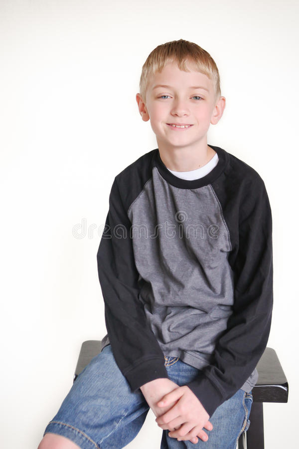 Pre teen boy. Portrait of a pre teen boy royalty free stock photography