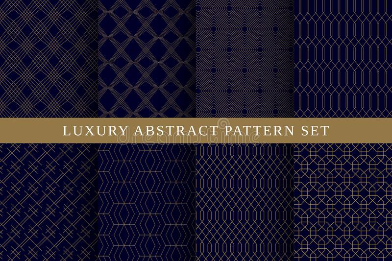 Blue luxury abstract vector patterns pack royalty free stock photos