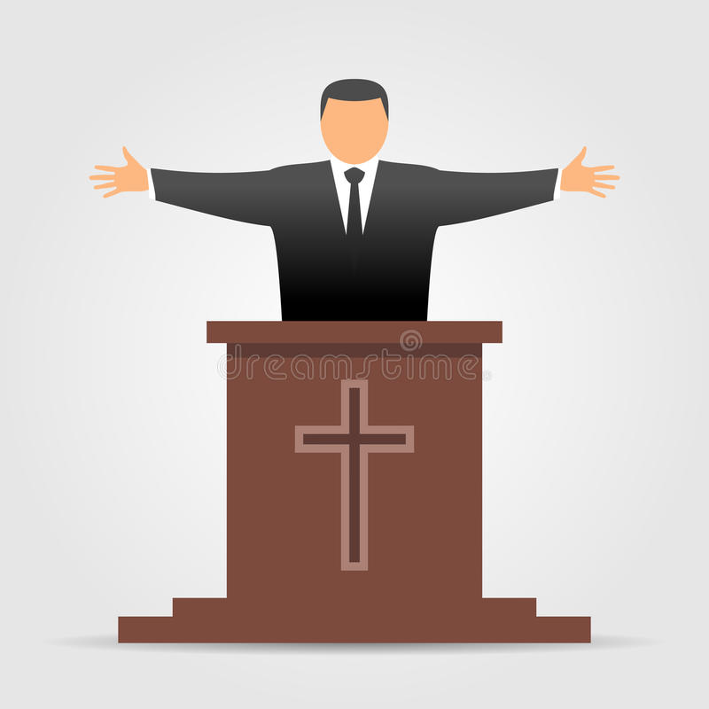 Preacher icon stock illustration