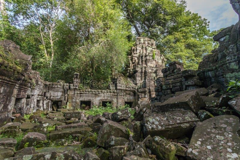Preah可汗寺庙在吴哥考古学公园,在暹粒附近, 免版税库存图片