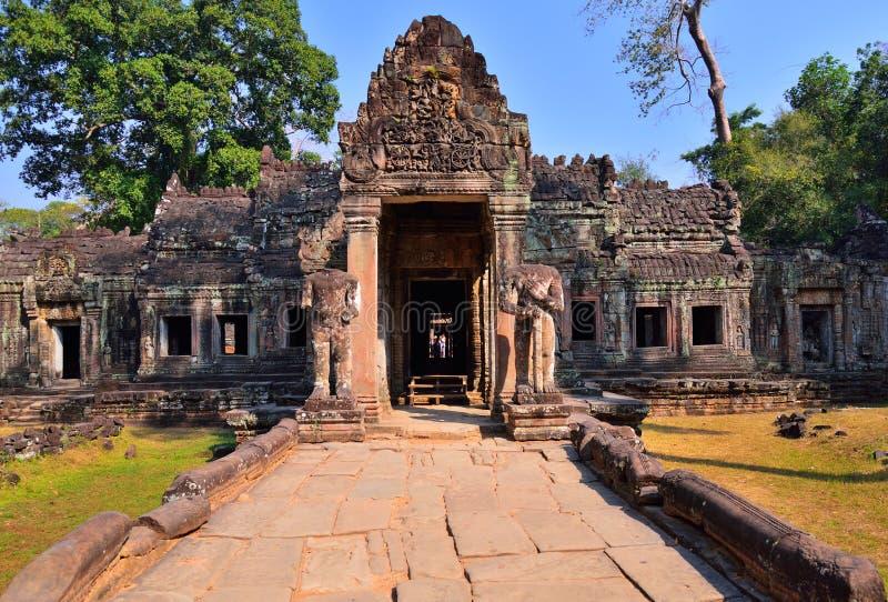 Preah可汗寺庙,吴哥窟 图库摄影